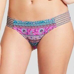 Beach Hipster Strappy Bikini Swimsuit Bottom L